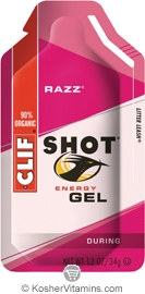 Clif Kosher Shot Energy Gel Razz Dairy 24 Packs
