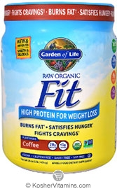 Garden Of Life Kosher Raw Fit Organic High Protein Powder For Weight Loss Marley Coffee 16 Oz