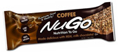 NuGo Nutrition Kosher Nutrition To Go 11g Protein Bar Coffee Dairy 15 Bars