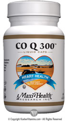 Maxi Health Kosher Co Q 300 mg. Coenzyme Q-10 60 Liquid MaxiCaps