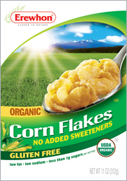 Erewhon Kosher Organic Corn Flakes Gluten Free Pack of 12 1 Case