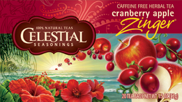 Celestial Seasonings Kosher Cranberry Apple Zinger 20 Bag