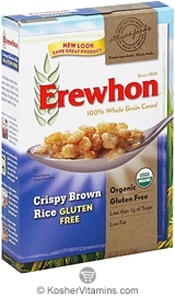 Erewhon Kosher Organic Crispy Brown Rice Whole Grain Cereal Gluten Free 10 OZ