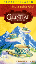 Celestial Seasonings Kosher Decaf India Spice Chai 20 Bag
