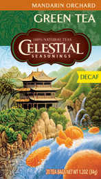 Celestial Seasonings Kosher Decaf Mandarin Orchard� Green Tea 20 Bags