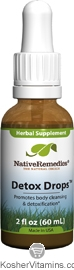 Native Remedies Kosher Detox Drops 2 OZ