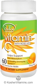 Dulce Nutritionals Kosher Vitamin C with Rose Hips for Adults Chewable Orange Flavor  60 Jellies