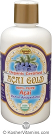 Dynamic Health Kosher Acai Gold 100% Pure Juice Organic 16 OZ