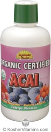 Dynamic Health Kosher Acai Juice Blend Organic 33.8 OZ