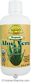 Dynamic Health Kosher Aloe Vera Juice Organic Unflavored 32 OZ