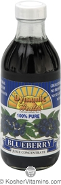 Dynamic Health Kosher Blueberry 100% Pure Juice Concentrate 8 OZ