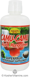 Dynamic Health Kosher Camu-Camu, Acai & Mangosteen Juice Blend 32 OZ