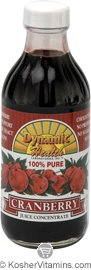 Dynamic Health Kosher Cranberry 100% Pure Juice Concentrate 8 OZ