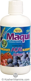 Dynamic Health Kosher Maqui Plus Juice Blend 32 OZ