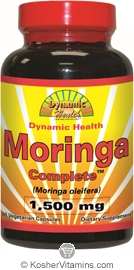 Dynamic Health Moringa Complete Vegetarian Suitable Not Certified Kosher 60 Vegetarian Capsules