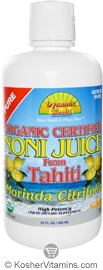 Dynamic Health Kosher Noni Juice from Tahiti Organic 32 OZ