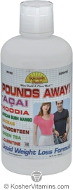 Dynamic Health Kosher Pounds Away Liquid Weight Loss Formula 32 OZ