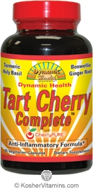 Dynamic Health Tart Cherry Complete Vegetarian Suitable Not Certified Kosher 60 Vegetarian Capsules