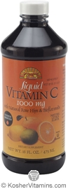 Dynamic Health Kosher Vitamin C 1000 Mg with Rose Hips & Bioflavonoids Liquid Citrus Flavor 16 OZ