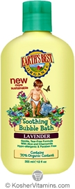 Earth's Best Bubble Bath Soothing Lavender 12 OZ