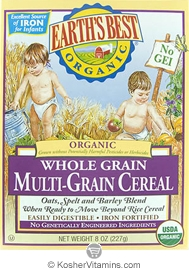 Earth's Best Kosher Whole Grain Multi-Grain Cereal Organic 8 OZ