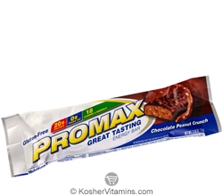 Promax Kosher Energy Bar Chocolate Peanut Crunch Dairy 12 Bars