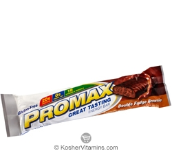 Promax Kosher Energy Bar Double Fudge Brownie Dairy 12 Bars