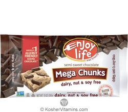 Enjoy Life Kosher Semi-Sweet Chocolate Mega Chunks Gluten Free 10 OZ