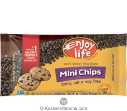 Enjoy Life Kosher Semi-Sweet Chocolate Mini Chips Gluten Free 10 OZ