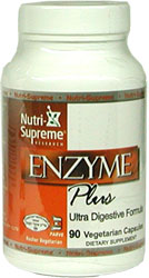 Nutri-Supreme Research Kosher Enzyme Plus New Formula!  90 Vegetarian  Capsules