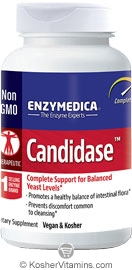Enzymedica Kosher Candidase Yeast Level Support 84 Capsules