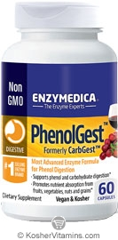 Enzymedica Kosher PhenolGest (formally CarbGest): Starch, Carbohydrate & Phenol Digestion 60 Capsules