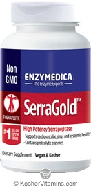 Enzymedica Kosher Serra Gold High Activity Serrapeptase 60 Capsules