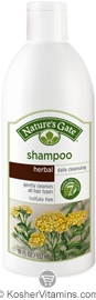 Natures Gate Shampoo Herbal Daily Gently Cleanses All Hair Types 18 OZ