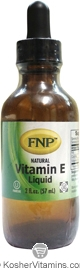Freeda Kosher FNP Vitamin E Liquid 2 OZ