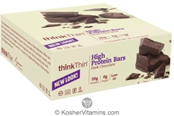 ThinkThin Kosher High Protein Bar Dark Chocolate Dairy 10 Bars