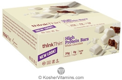 ThinkThin Kosher High Protein Bar White Chocolate Dairy 10 Bars