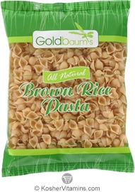 Goldbaum's Kosher All Natural Brown Rice Pasta Shells Gluten Free 16 OZ