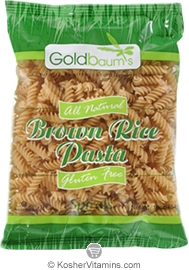 Goldbaum's Kosher All Natural Brown Rice Pasta Spirals Gluten Free 16 OZ