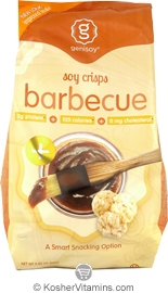 Genisoy Kosher Soy Crisps Barbeque Dairy 12 Pack 3.85 OZ