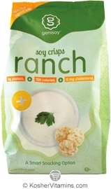 Genisoy Kosher Soy Crisps Ranch Dairy 12 Pack 3.85 OZ