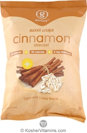 Genisoy Kosher Sweet Crisps Cinnamon Streusel Dairy Case of 12 3.52 OZ