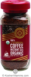 Giraldo Farms Kosher 100% Colombian Freeze Dried Coffee Organic 3.52 OZ