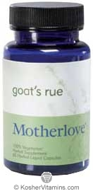 Motherlove Goat's Rue Vegetarian Suitable Not Certified Kosher 120 Liquid Vegetarian Capsules