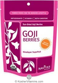 Navitas Naturals Kosher Organic Sun-Dried Goji Berries 4 OZ