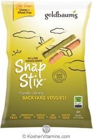 Goldbaum's Kosher SnapStix Potato Snack Backyard Veggies 3.5 OZ