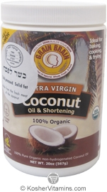 Grain Brain Kosher Organic Extra Virgin Coconut Oil & Shortening 20 OZ