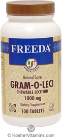Freeda Kosher Gram-O-Leci Chewable Lecithin 1,000 Mg 100 Tablets