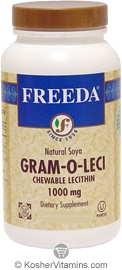 Freeda Kosher Gram-O-Leci (Lecithin) 1,000 Mg Chewable 250 Tablets
