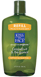 Kiss My Face Self Foaming Liquid Soap Refill Grapefruit & Bergamont 17.5 OZ